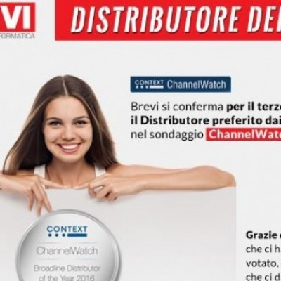 Channel Watch: BREVI è il 'Distributore dell'anno'