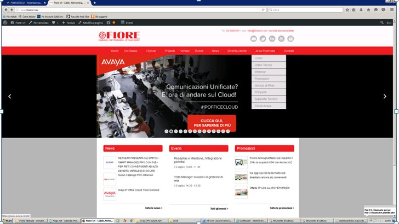 fiore sito web