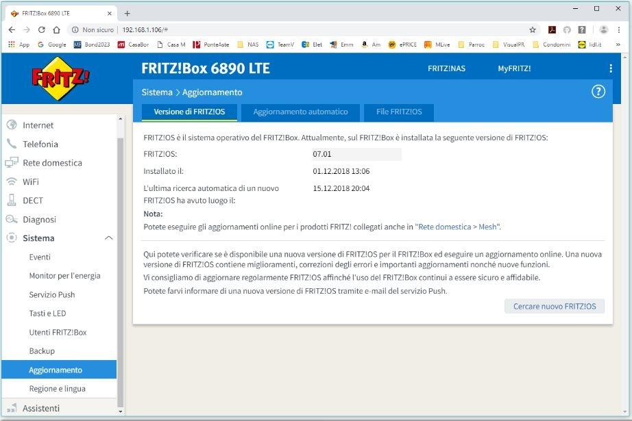 fritz6890 aggiorna