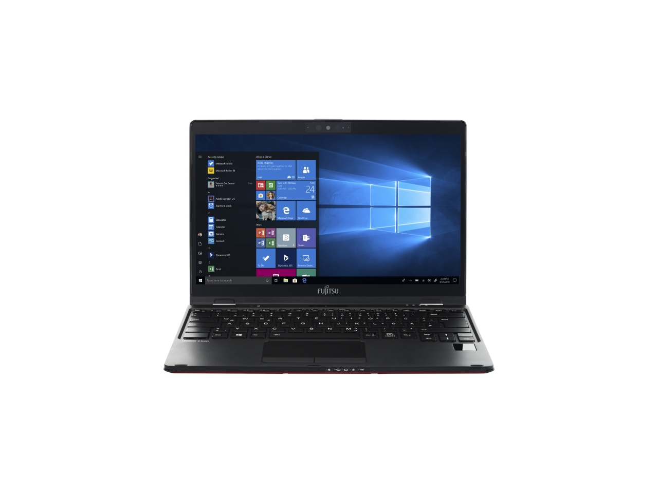lifebook u939x red front windows screen