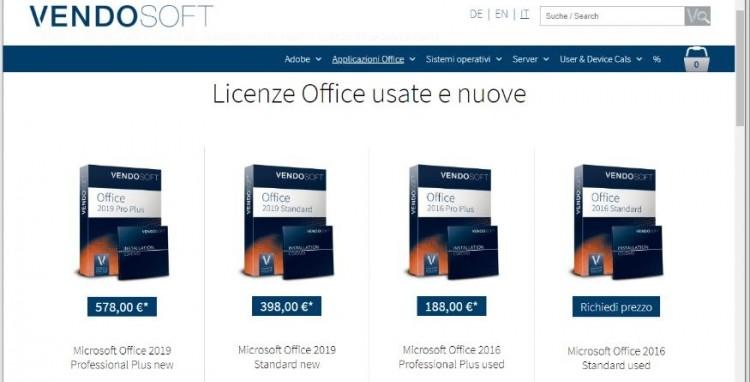 Vendosoft, l'usato garantito nel software