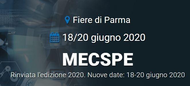 MECSPE rinviata, si terrà dal 18 al 20 giugno