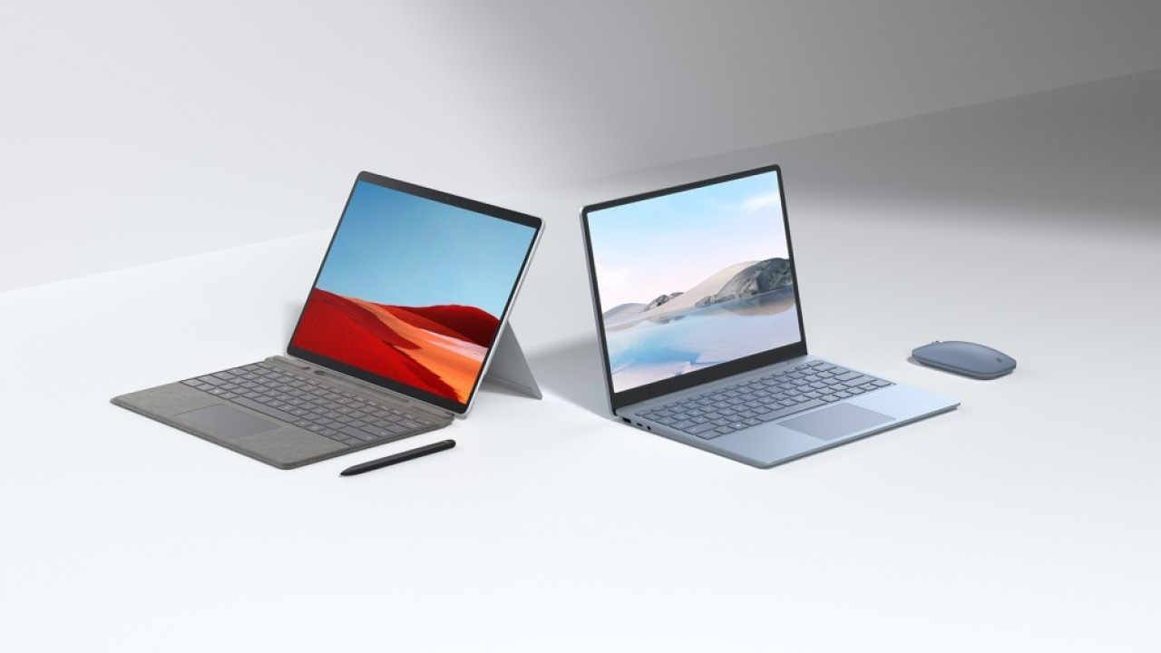 surface laptop go e surface pro x