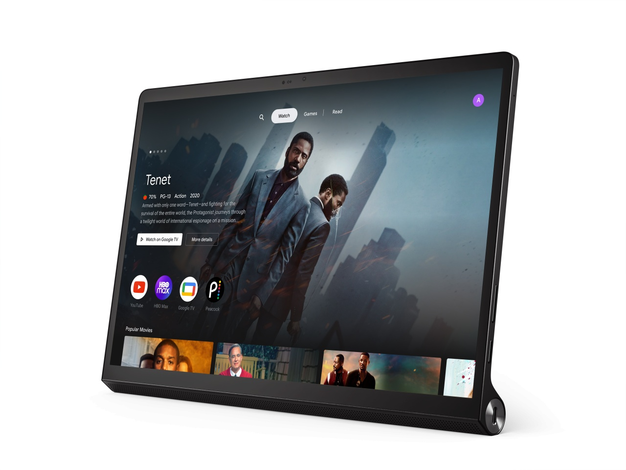 lenovo yoga tab 13 with entertainment space background
