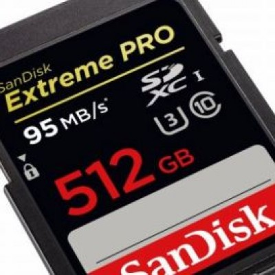SanDisk, prima scheda SD da 512 GB
